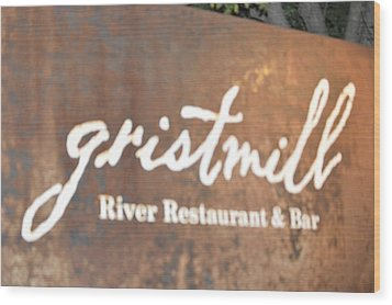 The Gristmill River Restaurant And Bar Wood Print