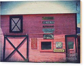 The Grocery Store Wood Print by Sophie Vigneault