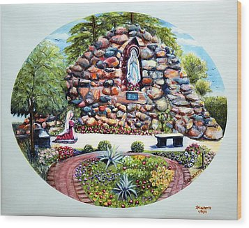 The Grotto Wood Print by Bernadette Krupa