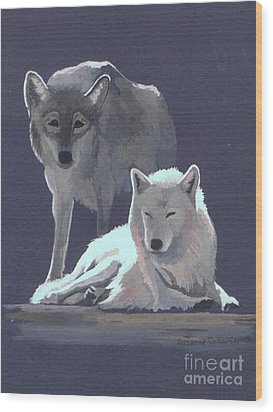 The Guardian Wood Print by Suzanne Schaefer