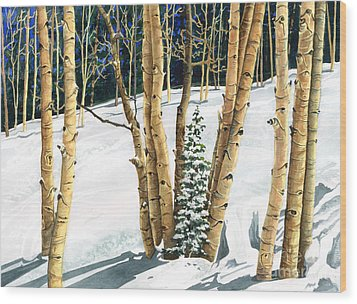 The Guardians Wood Print by Barbara Jewell