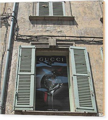The Gucci Window Wood Print by John Stuart Webbstock
