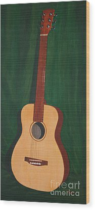 The Guitar  Wood Print by Jimmie Bartlett