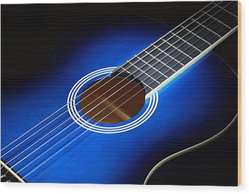 Wood Print featuring the photograph The Guitar by Keith Hawley