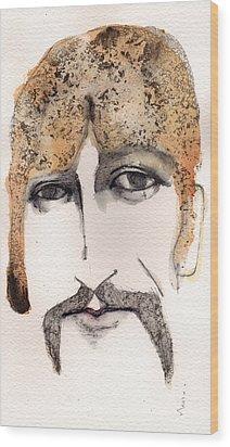 The Guru As George Harrison  Wood Print by Mark M  Mellon