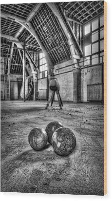 The Gym Wood Print by Jason Green