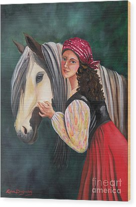 The Gypsy's Vanner Horse Wood Print