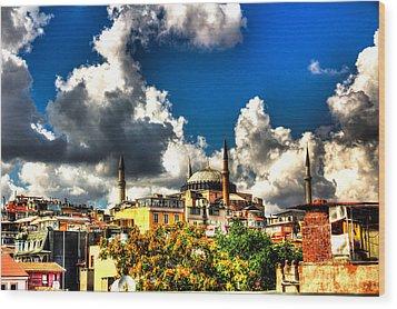 The Hagia Sophia Wood Print by Mark Alexander