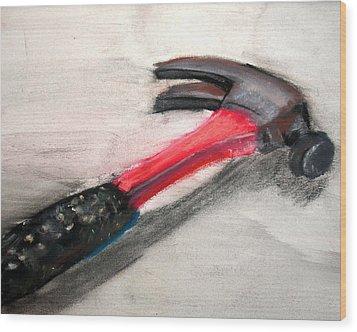 The Hammer Wood Print by Ryan Burton