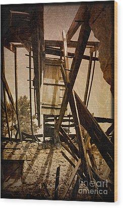 Wood Print featuring the photograph The Hanging Door by Liz  Alderdice
