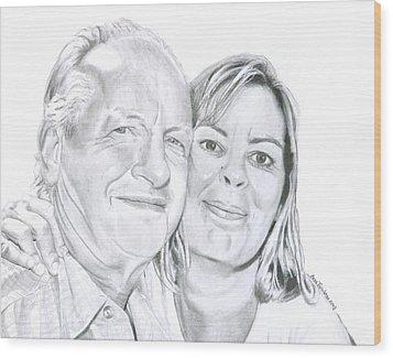The Happy Couple Wood Print