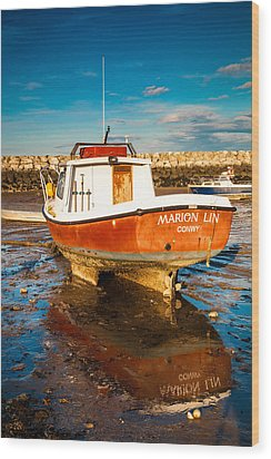 The Harbour Wood Print by Christine Smart