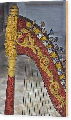 The Harp Wood Print by Al Bourassa