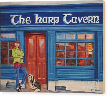The Harp Tavern Wood Print by Janet McDonald