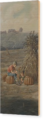 The Harvest Wood Print