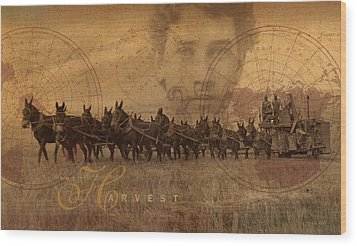 Wood Print featuring the photograph The Harvest by Ron Crabb