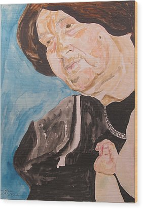 The Hassidic Grandmother Wood Print by Esther Newman-Cohen