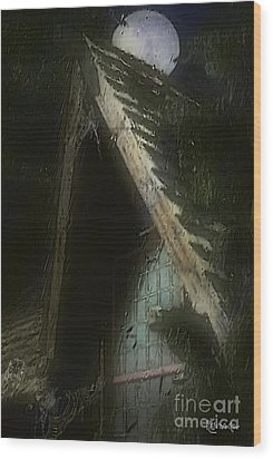 The Haunted Gable Wood Print by RC DeWinter