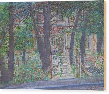 The Haunted House In Talpiot Jerusalem Wood Print by Esther Newman-Cohen
