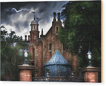 The Haunted Mansion Wood Print