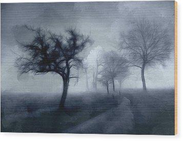 The Haunted Road Wood Print by Steve K