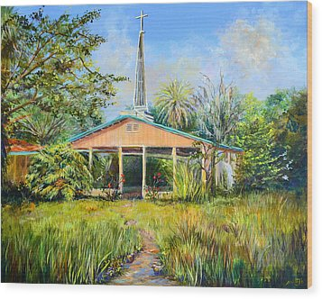 The Healing Chapel Wood Print by AnnaJo Vahle
