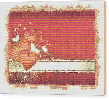 Wood Print featuring the digital art The Heart Knows by Liane Wright