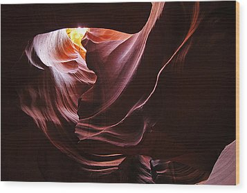 Wood Print featuring the photograph The Heart Of Antelope Canyon by Dan Myers