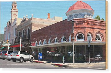 The Heart Of Sonoma California 5d24484 Long Wood Print by Wingsdomain Art and Photography