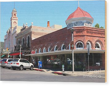 The Heart Of Sonoma California 5d24484  Wood Print by Wingsdomain Art and Photography