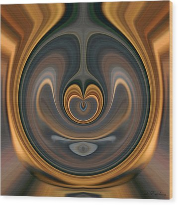 Wood Print featuring the digital art the Heart of Time by rd Erickson