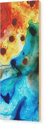 The Heart's Desire - Colorful Abstract By Sharon Cummings Wood Print by Sharon Cummings