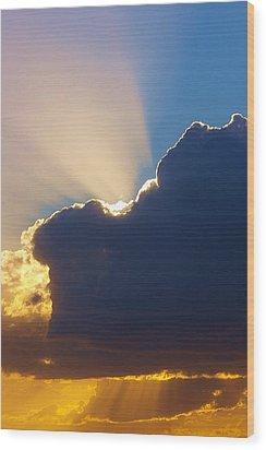 The Heavens Wood Print by Randy Pollard