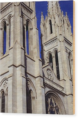 The Heights Of The Cathedral Basilica Of The Immaculate Conception Wood Print by Angelina Vick