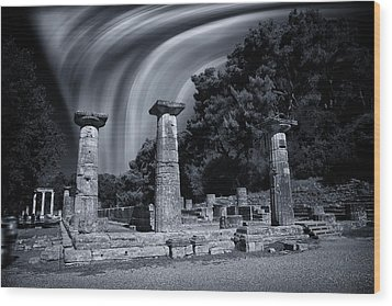 Wood Print featuring the photograph The Heraion Of Ancient Olympia by Micah Goff