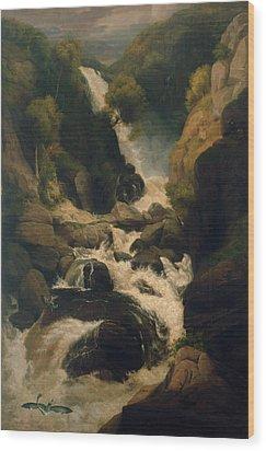 The Heron Shoot, C.1800 Wood Print by English School
