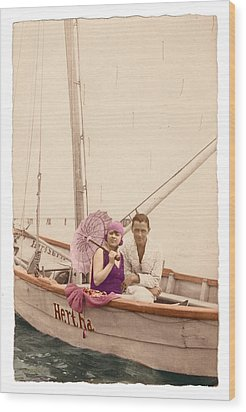 Wood Print featuring the photograph The Hertha by Ron Crabb