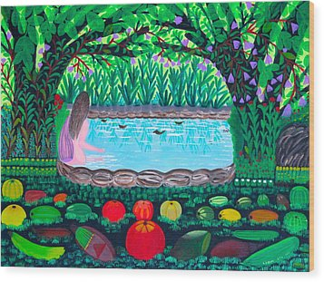 The Hidden Water Wood Print by Lorna Maza