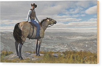 The High Country Wood Print by Jayne Wilson