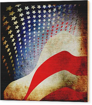 The High Flying Flag Wood Print by Angelina Vick