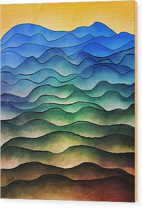 The Hills Are Alive Wood Print by Brenda Bryant