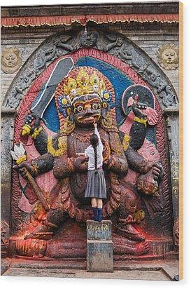 The Hindu God Shiva Wood Print by Nila Newsom