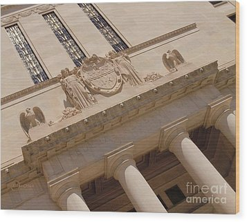 Wood Print featuring the photograph The Historical Federal Reserve Bank Of Dallas by Robert ONeil