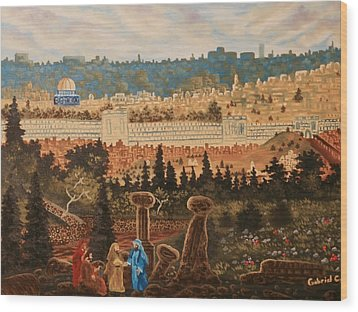 The Holy City Wood Print