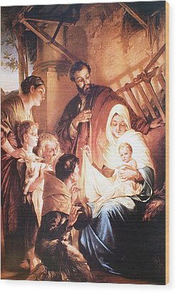 The Holy Family Wood Print by Unknown