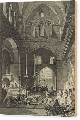 The Holy Sepulchre 1886 Engraving Wood Print by Antique Engravings