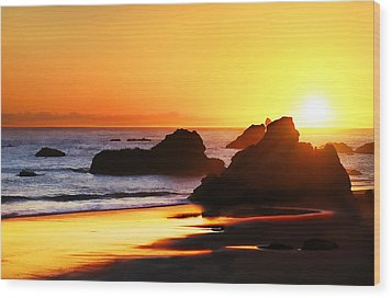 The Honeymoon Sunset  Wood Print