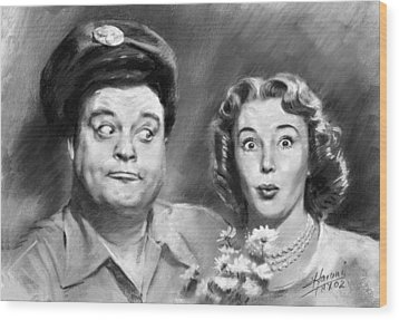 The Honeymooners Wood Print by Viola El