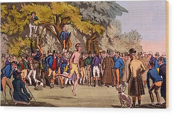 The Hopping Match On Clapham Common Wood Print by English School