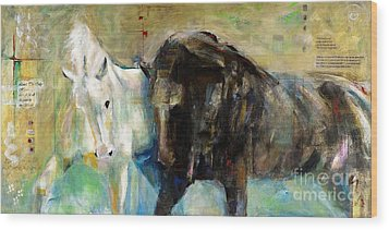 The Horse As Art Wood Print by Frances Marino